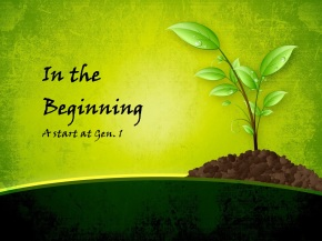 In the Beginning Title Image